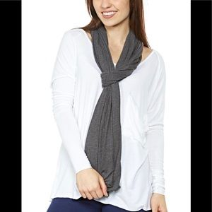 LAMade Skinny Zingo Scarf in Charcoal Gray